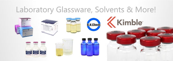 Laboratory Glassware, USP Solvents, Diluents, USP Carrier Oils, A variety of sterile serum vials