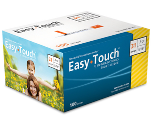 Easy Touch® Insulin Syringe 31G x  ⁵⁄₁₆'', 0.5cc