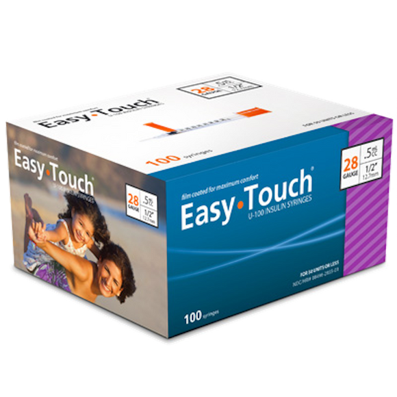 Easy Touch® Insulin Syringe 28G x ½'', 0.5cc