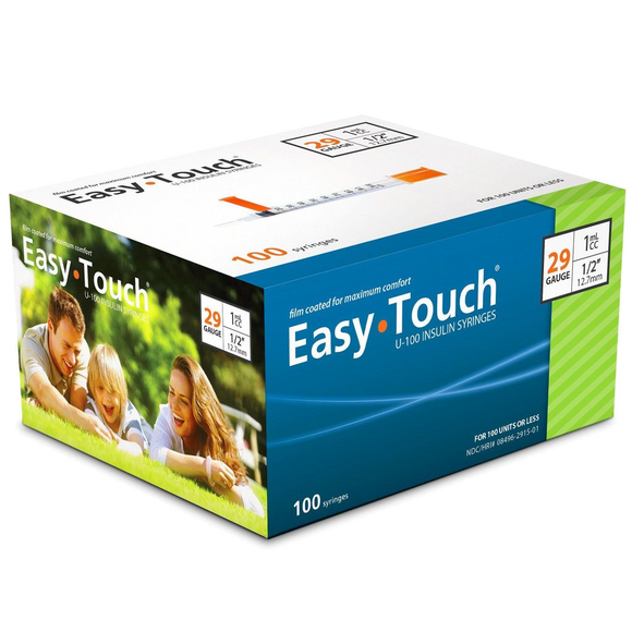 Easy Touch® Insulin Syringe 29G x ½'', 1cc
