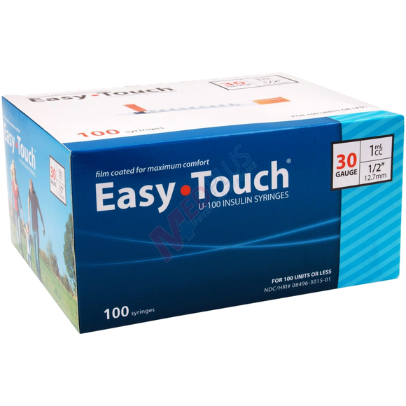 Easy Touch® Insulin Syringe 30G x ½'', 1cc