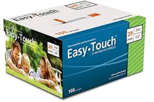 Easy Touch® Insulin Syringe 29G x ½'', 0.5cc