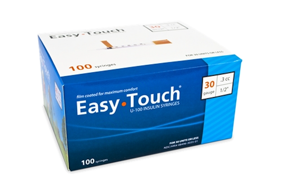 Easy Touch® Insulin Syringe 30G x ½'', 0.3cc