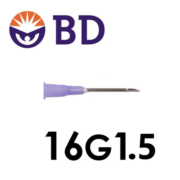 BD™ PrecisionGlide™ Needle 16G x 1 ½''