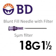 BD™ Blunt Fill Needle with Filter 18G x 1 ½""
