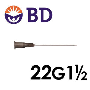 BD™ PrecisionGlide™ Needle 22G x 1 ½""