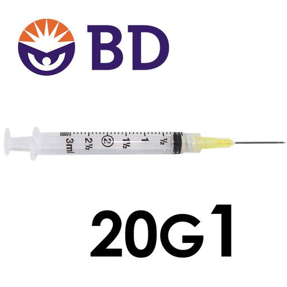 BD™ 3cc Syringe with Needle 20G x 1