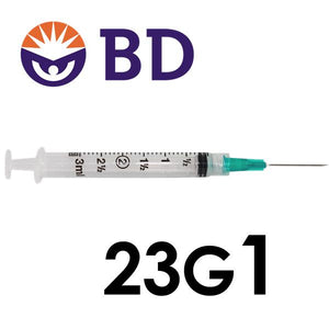 BD™ 3cc Syringe with Needle 23G x 1""