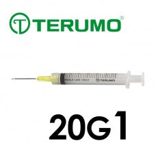 Terumo® Syringe With Needle 3cc with 20G x 1""