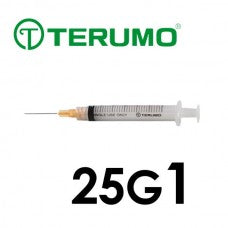 Terumo® Syringe With Needle 3cc with 25G x 1""
