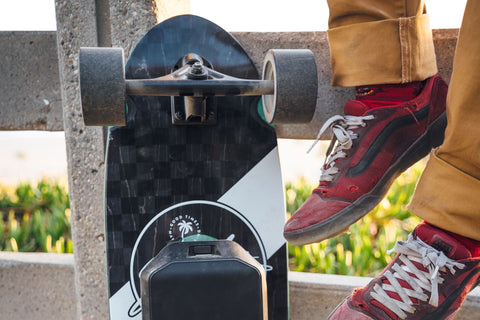 Sector 9 Fat Wave Mosaic Bottom Detail with Electric Skateboard Conversion Kit
