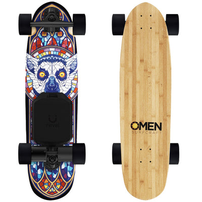 "Omen Endangered Lemur 33"" Electric Skateboard - Revel Boards"