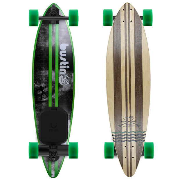 "Bustin Fire & Water 38"" Pintail Electric Skateboard - Revel Boards"