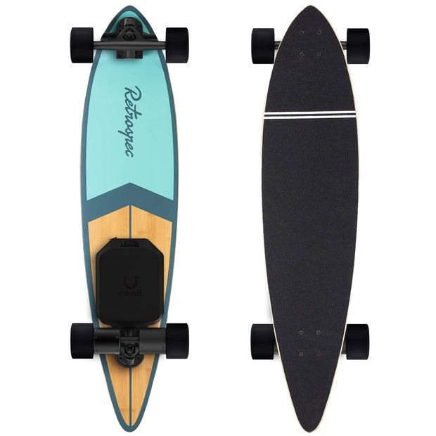 "Retrospec Zed Bamboo 41"" Pintail  Electric Longboard - Revel Boards"