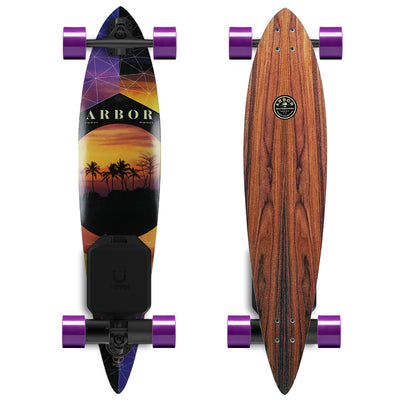 "Arbor Timeless Pintail 42"" Electric Longboard - Revel Boards"