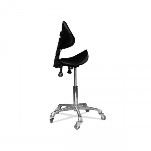 James 3 Movement Saddle Stool Aluminium Base