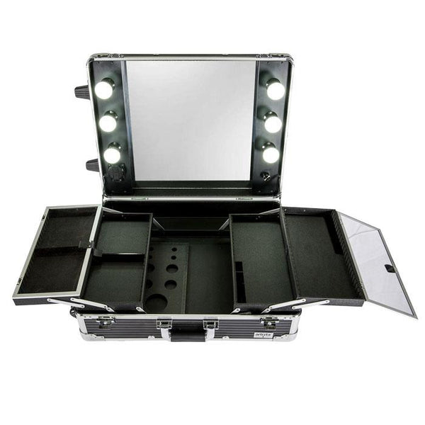 Artizta Horizon Black Lines Hollywood Make Up Artist Station 6070BL