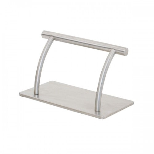 Arched Stainless Steel Footrest Anti Slide Rubber Grip