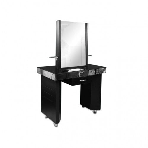 Cher Double Sided Free Standing Make Up Station with 2 Benches