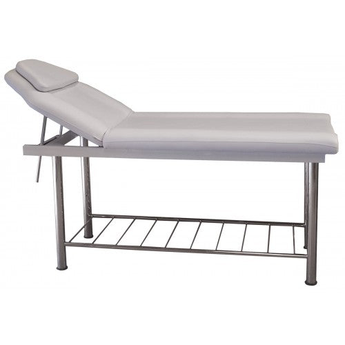 Coco Contour Bed with Rack Chrome Legs White 120 kg