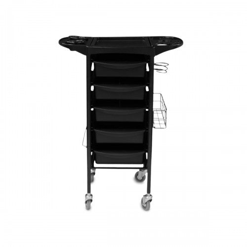 Collin 5 Drawer Sturdy Metal Frame Trolley with Side Storage and Holder
