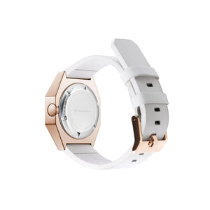 stealth mechanical leather rose gold + white back