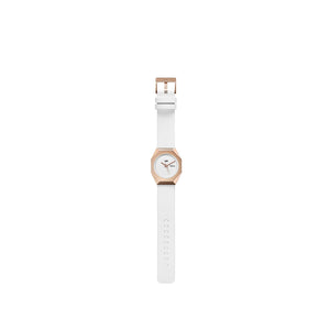 stealth mechanical leather rose gold + white top