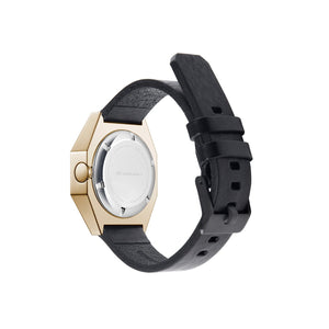 stealth mechanical leather gold + black + white front