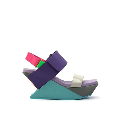 delta wedge sandal azure out view