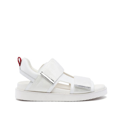 geo sandal mens white red mix out view
