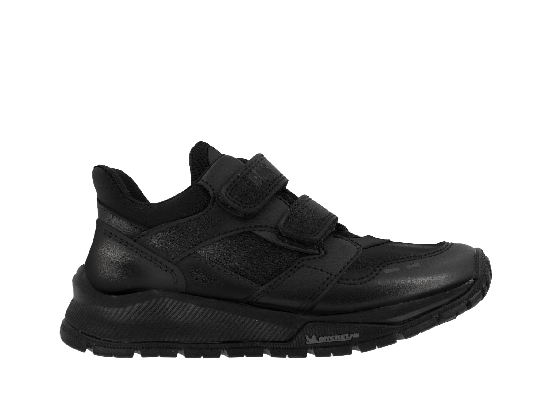 "Black Double Velcro ""MICHAEL"" Boys School Shoes"