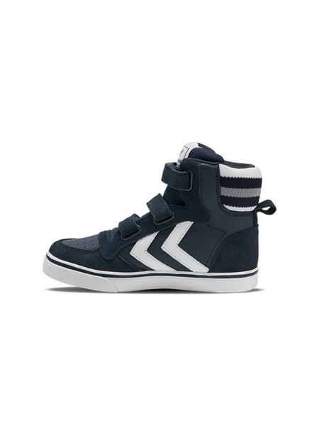 Hummel Stadil Pro Junior Leather and Suede Blue Nights Trainers