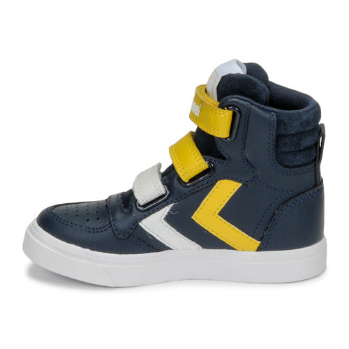 Hummel Navy Stadil Pro Junior High Trainers