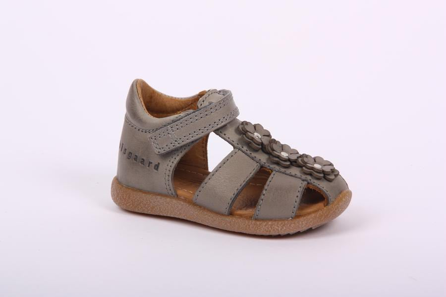 Bisgaard Grey sandal flower T-bar