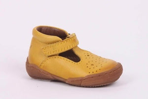 Bisgaard Yellow T- Bar Leather Shoes