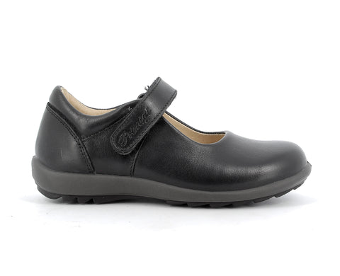 Primigi Black Soft Leather Mary Janes