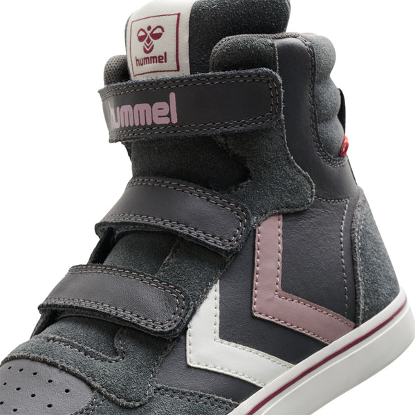 Hummel Stadil Pro Junior High top Leather Trainers
