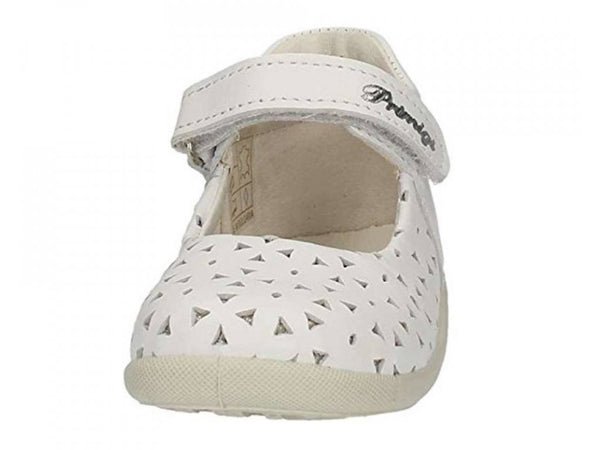 Primigi White Leather Velcro Shoes