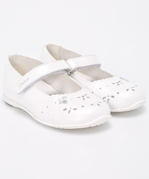 Primigi Off White Leather Mary Janes