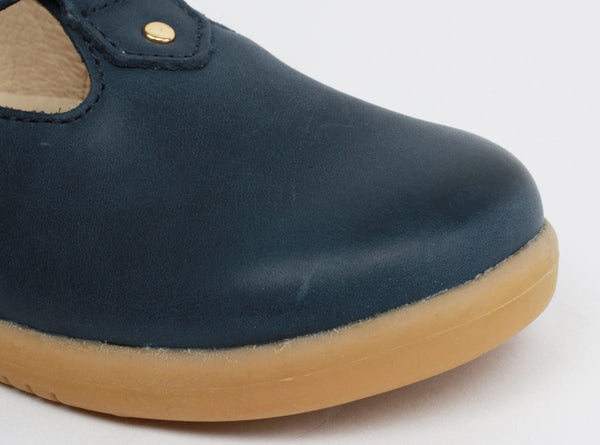 Bobux Louise Navy T-Bar Shoes