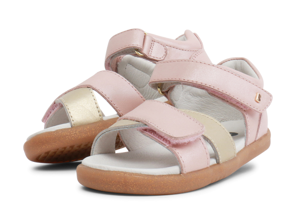 Bobux Sail Blush Shimmer With Misty Gold Open Toe sandals