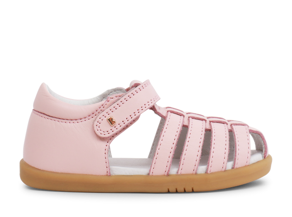 Bobux Seashell and Pink Closed Toe sandals