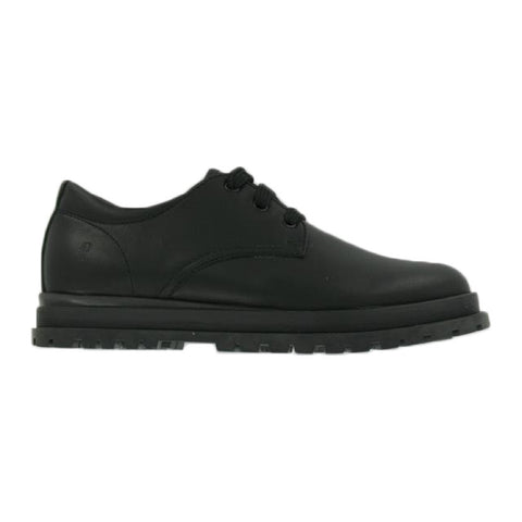 "Black leather Lace up ""Marina"" School Shoes"