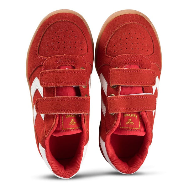 Hummel Poinsettia Red Victory Suede Infant Trainers