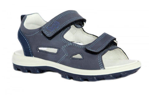 Primigi Navy Leather Open Toe Sandals