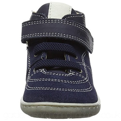 Primigi Blue Leather Low-Top Trainers
