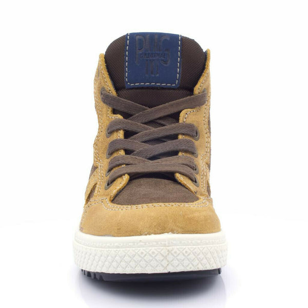 Primigi Brown / Beige Suede High Trainers
