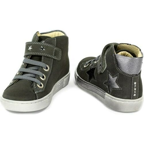 Primigi Girls Grey Hi-Top trainers