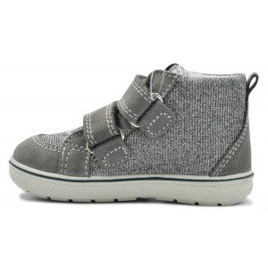 Primigi Grey Leather Sneakers