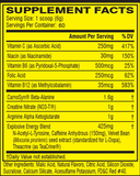 Tabla nutricional-c4 Original - Cellucor- 60 Servicios